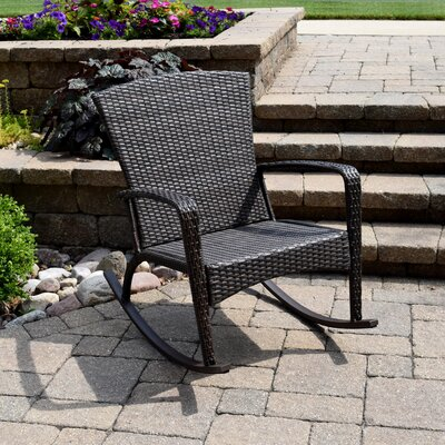 Truesdell Woven Adirondack Rocking Chair Finish: Chocolate