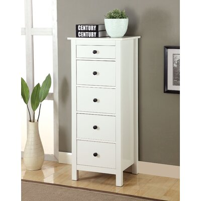 Bryant 5 Drawer Lingerie Chest Color: White
