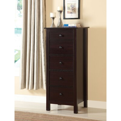 Logan 5 Drawer Lingerie Chest Color: Espresso