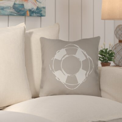 Victoria Nautical Indoor/Outdoor Throw Pillow Size: 18 H x 18 W x 4 D, Color: Brown