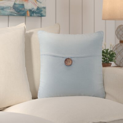 Williamsville Square Throw Pillow Color: Aqua