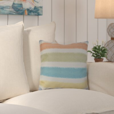 Golden Gate Geometric Square Throw Pillow Size: 18 H x 18 W x 3 D, Color: Light Blue
