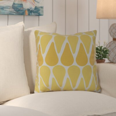 Golden Gate Outdoor Throw Pillow Size: 16 H x 16 W x 3 D, Color: Yellow