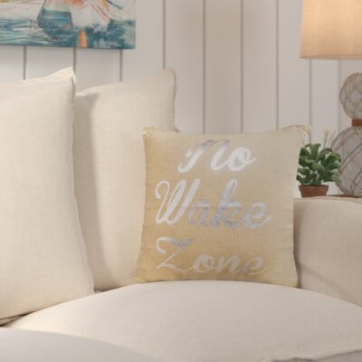 Colbert Burlap Throw Pillow Color: Silver