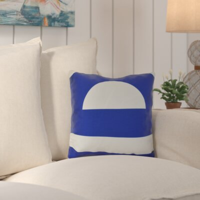 Golden Gate Geometri Outdoor Throw Pillow Size: 18 H x 18 W x 3 D, Color: Blue
