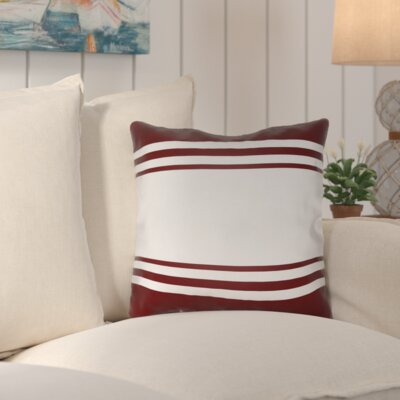 Abraham Outdoor Throw Pillow Size: 20 H x 20 W x 4 D, Color: Wine Red
