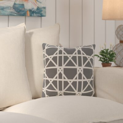 Cabana Colony Geometric Outdoor Throw Pillow Color: Gray