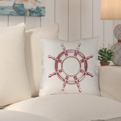 Fairmont Nautical II Indoor/Outdoor Throw Pillow Size: 20 H x 20 W x 4 D, Color: Red