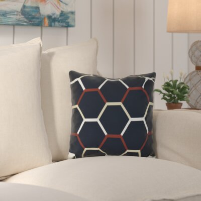Golden Gate Cool Shades Outdoor Throw Pillow Size: 20 H x 20 W x 3 D, Color: Navy Blue