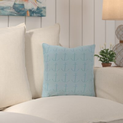 Callahan Outdoor Square Throw Pillow Color: Light Blue