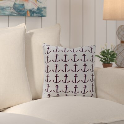 Callahan Outdoor Square Throw Pillow Color: White