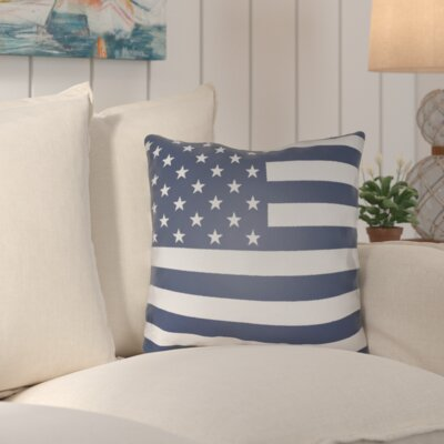 Archmont Indoor/Outdoor Throw Pillow Size: 18 H x 18 W x 4 D, Color: Blue