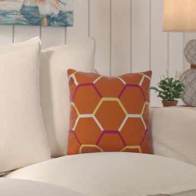 Bartow Cool Shades Throw Pillow Color: Orange, Size: 18 H x 18 W x 3 D