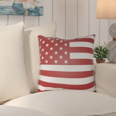 Unionville Americana Indoor/Outdoor Throw Pillow Size: 18 H x 18 W x 4 D, Color: Red