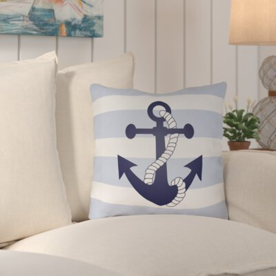 Caldecott Indoor/Outdoor Throw Pillow Size: 18 H x 18 W x 4 D, Color: Blue