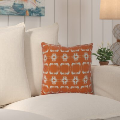 Golden Gate Square Outdoor Throw Pillow Size: 18 H x 18 W x 3 D, Color: Orange
