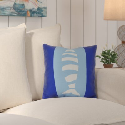 Golden Gate Puzzle Fish Throw Pillow Size: 18 H x 18 W x 3 D, Color: Navy Blue