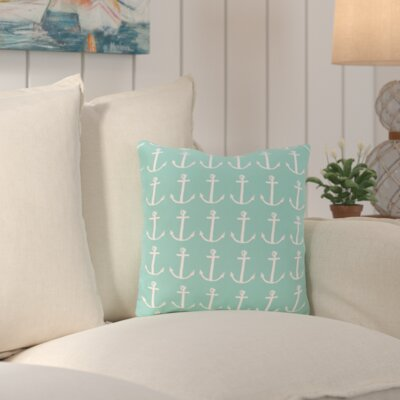 Callahan Outdoor Square Throw Pillow Color: Aqua