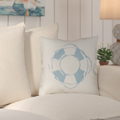 Victoria Nautical Indoor/Outdoor Throw Pillow Size: 18 H x 18 W x 4 D, Color: Blue