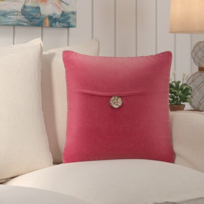 Williamsville Square Throw Pillow Color: Red