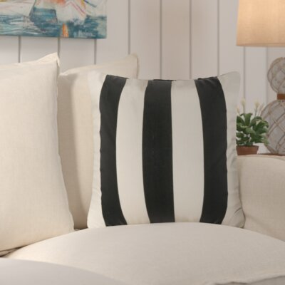 Merrill Outdoor Throw Pillow Color: Black/Stark White