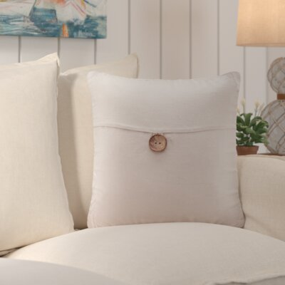 Williamsville Square Throw Pillow Color: Linen