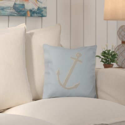 Callahan Outdoor Throw Pillow Color: Taupe/Sky Blue