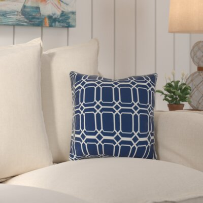 Golden Gate Square Throw Pillow Size: 16 H x 16 W x 3 D, Color: Blue