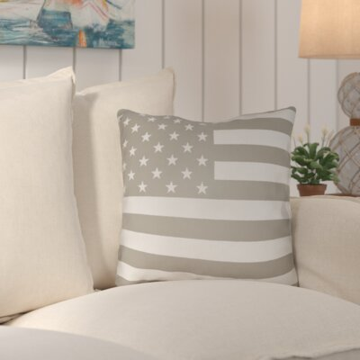 Unionville Americana Indoor/Outdoor Throw Pillow Size: 18 H x 18 W x 4 D, Color: Neutral