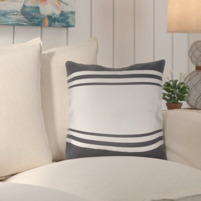 Abraham Outdoor Throw Pillow Size: 18 H x 18 W x 4 D, Color: Gray
