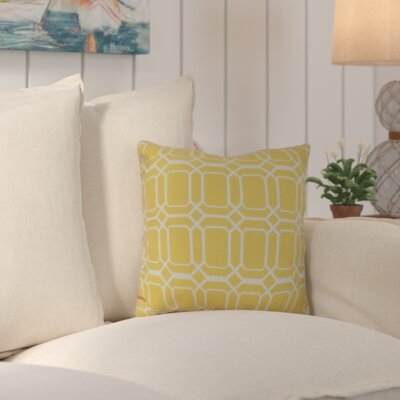 Golden Gate Square Throw Pillow Size: 18 H x 18 W x 3 D, Color: Yellow
