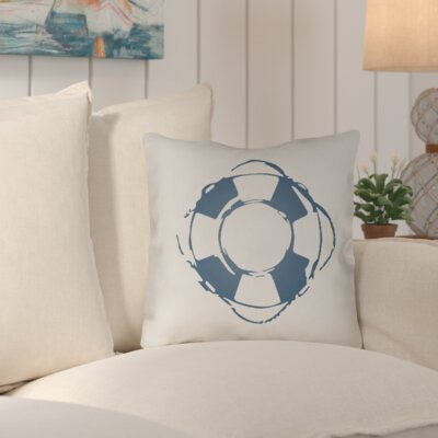 Victoria Nautical Indoor/Outdoor Throw Pillow Size: 18 H x 18 W x 4 D, Color: Navy