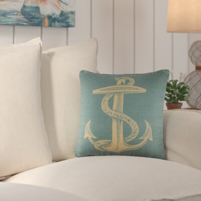 Old Ferry Throw Pillow Color: Blue