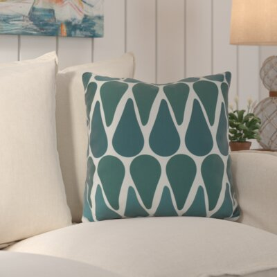 Golden Gate Outdoor Throw Pillow Size: 18 H x 18 W x 3 D, Color: Teal