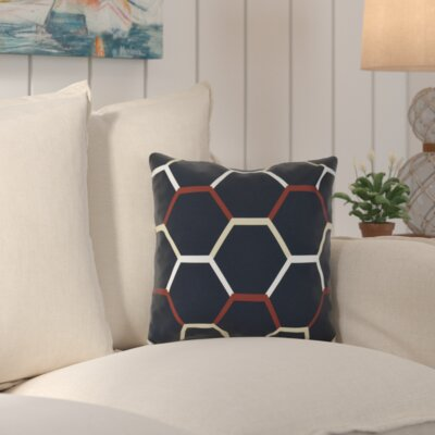Bartow Cool Shades Throw Pillow Size: 16 H x 16 W x 3 D, Color: Navy Blue