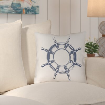 Fairmont Nautical II Indoor/Outdoor Throw Pillow Color: Navy, Size: 20 H x 20 W x 4 D