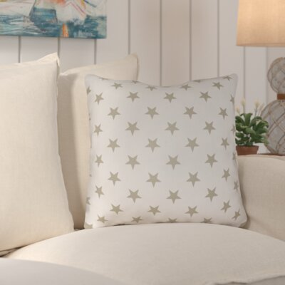 Starry Night Throw Pillow Color: Gold & White, Size: 18