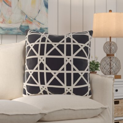 San Carlos Trellis Geometric Print Throw Pillow Color: Navy Blue