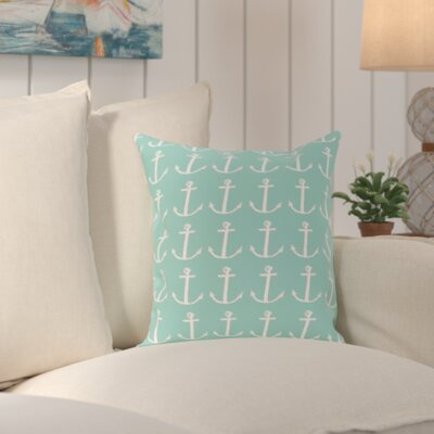Callahan Coastal Print Outdoor Pillow Color: Oatmeal / Off White, Size: 18 H x 18 W x 1 D