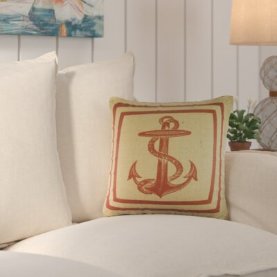 Old Ferry Throw Pillow Color: Red