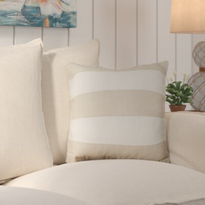 Dayton Stripes Throw Pillow Color: White