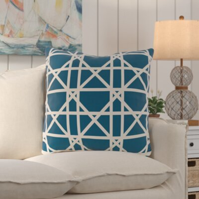 Osage Trellis Geometric Print Throw Pillow
