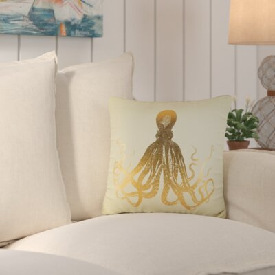 Firth Nautical Throw Pillow Color: Copper