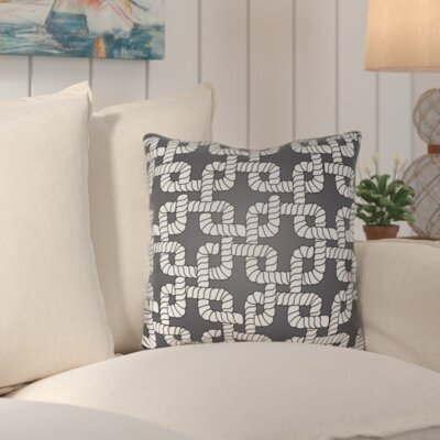 Kirkham Rope Indoor/Outdoor Throw Pillow Size: 18 H x 18 W x 4 D, Color: Black