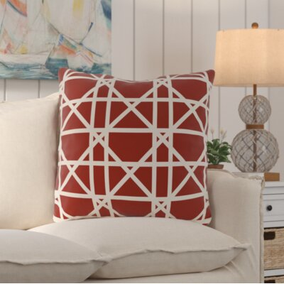 San Carlos Trellis Geometric Print Throw Pillow Color: Orange