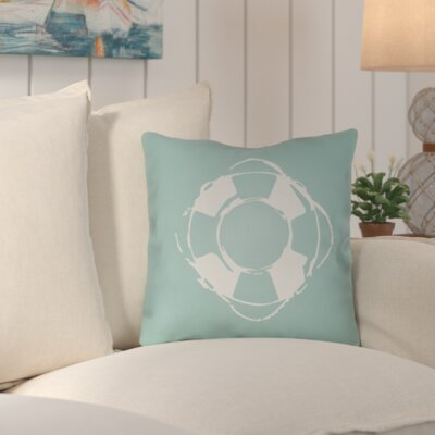 Victoria Nautical Indoor/Outdoor Throw Pillow Size: 18 H x 18 W x 4 D, Color: Seafoam