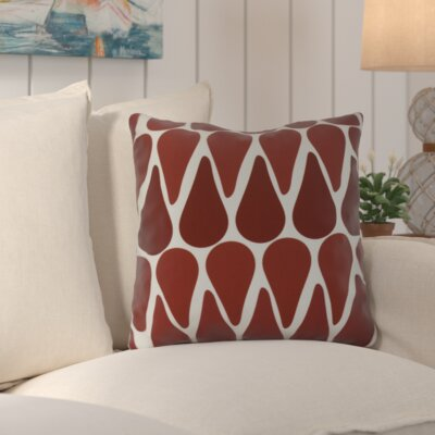 Golden Gate Outdoor Throw Pillow Size: 18 H x 18 W x 3 D, Color: Red