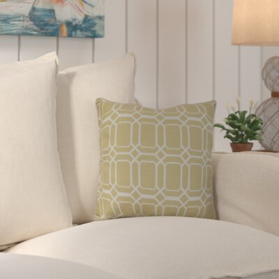 Golden Gate Square Throw Pillow Size: 16 H x 16 W x 3 D, Color: Taupe