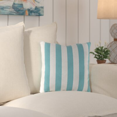 Huxley Outdoor Throw Pillow Color: Cabana Turquoise