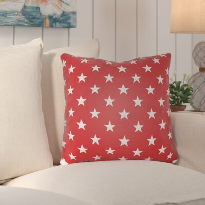 Starry Night Throw Pillow Color: Red & White, Size: 18 H x 18 W x 4 x D